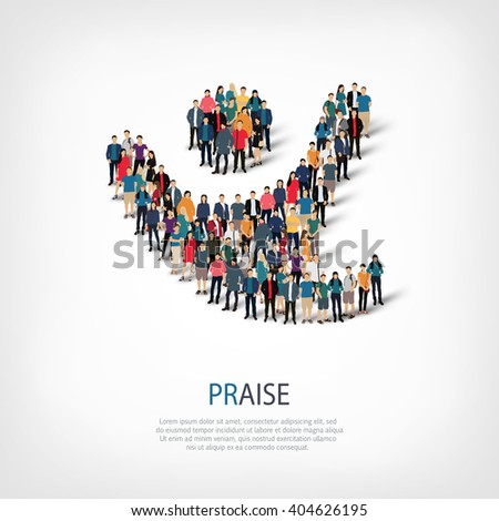 praise people  symbol - stock photo