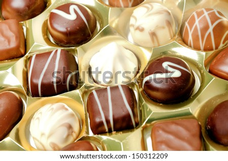 Praline of chocolate on background  - stock photo