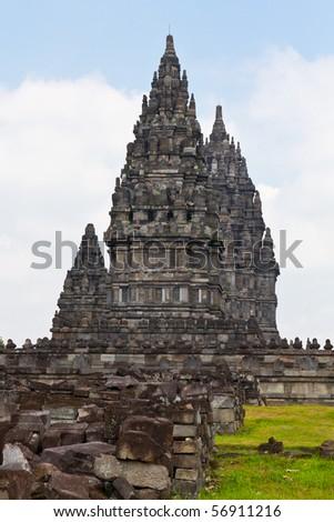 prambanan ruin, Jogjakarta, Java, Indonesia. - stock photo