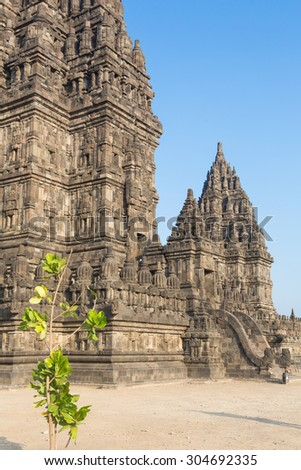 Prambanan temple near Jogyakarta in central Java, Indonesia. This is a Hindu temple complex.