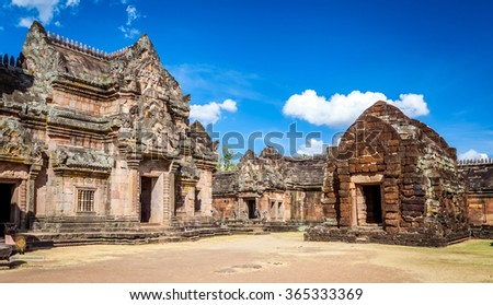 Prasat Hin Phanom Rung Hindu religious ruin located in Buri Ram Province Thailand, built around the 10th-12th century and used as a religious shrine in Hinduism.UNESCO World Heritage site
