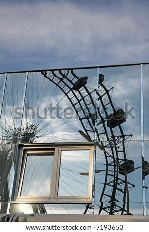 Prater reflecting - stock photo