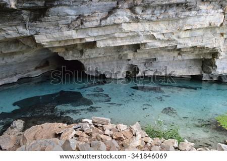 Pratinha Cave - Chapada Diamantina -Bahia - Brazil - stock photo