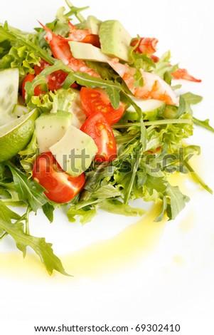 Prawn salad - stock photo