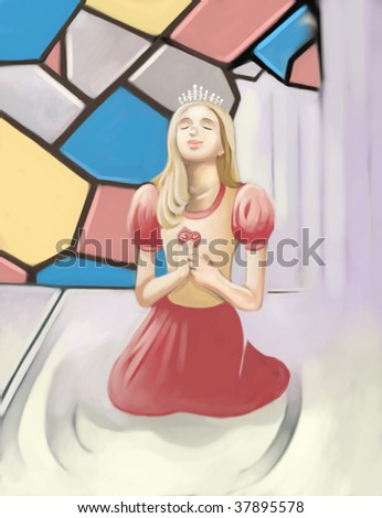 pray (search the word nikos for more) - stock photo
