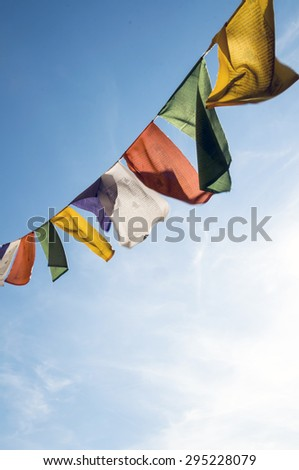 Prayer Flags - stock photo