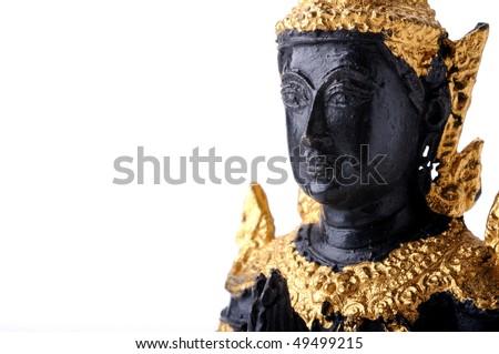 Praying Buddha - stock photo
