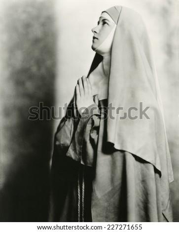 Praying to God - stock photo