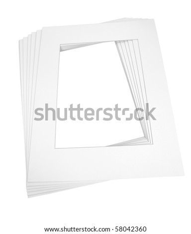 Precut Matboards Framing Art Isolated On Stock Photo (Royalty Free ...