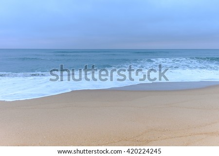 Pre-dawn Light on the shores of the Outer Banks of North Carolina