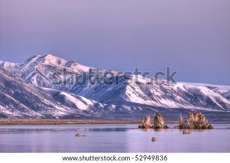 Pre-Dawn Mono Lake Scene - stock photo