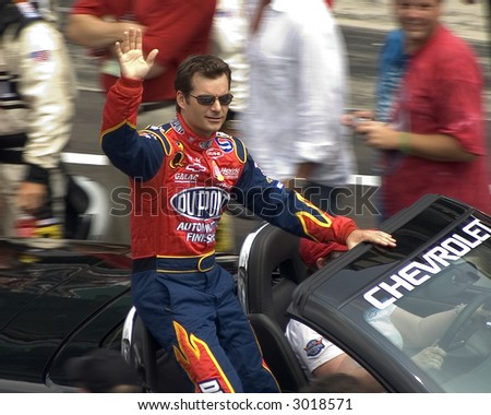 Pre-race photo of Jeff Gordon - stock photo