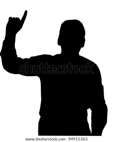 Preacher or Man pointing with finfer upwards