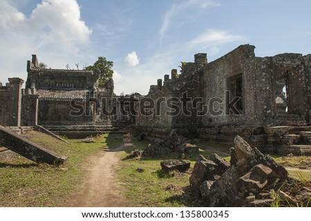 Preah Vihear Temple in Cambodia - stock photo