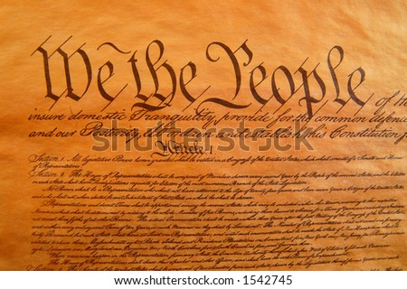 Preamble to the Constitution - stock photo