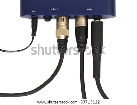 preamplifier on white background, clipping path - stock photo