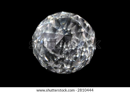 Precious gem on black background. - stock photo
