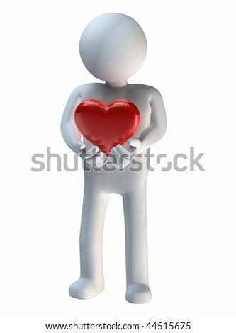 Precious Heart held in hands - stock photo
