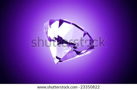 Precious Purple Gemstone - stock photo