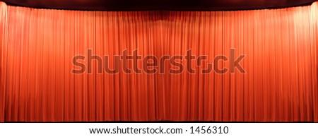 precious theater velvet - stock photo