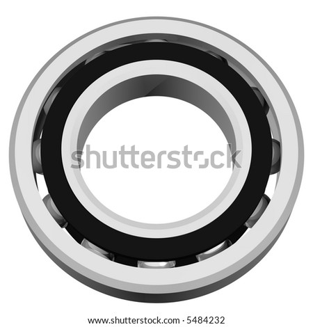 precision ball bearing assembly isolated on white