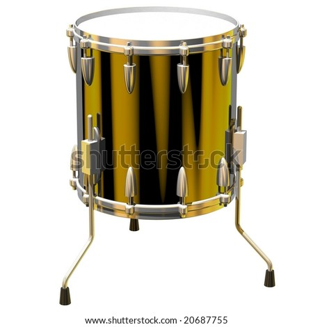 Precision Floor Tom Isolated On White