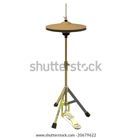 Precision hi-hat isolated on white - stock photo
