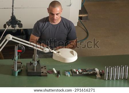 Precision measurement control - stock photo