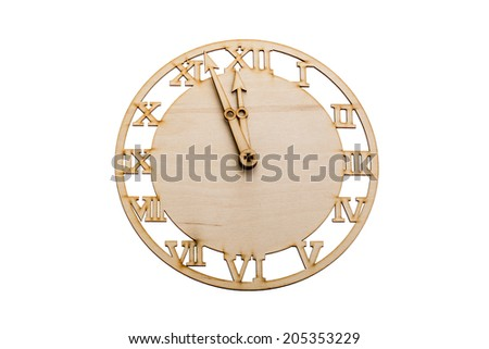preform for clock dial Isolated over white background - stock photo