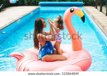 Beautiful Pregnant Woman Wearing Swimsuit Lying Stock Photo 523864885 Shutterstock