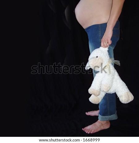 pregnant woman - stock photo