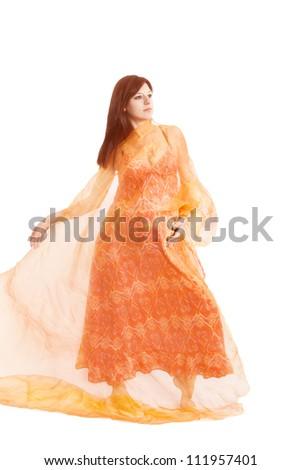 Pregnant woman posing - stock photo