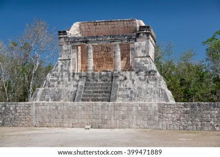 Prehistoric Mayan ruin at Chichen Itza, Yucatan, Mexico. - stock photo