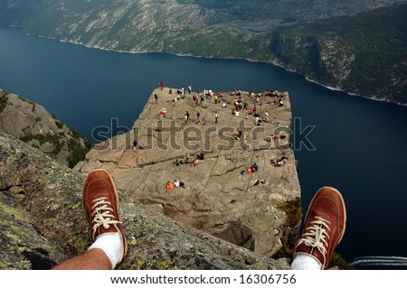 Preikestolen,Norway. - stock photo