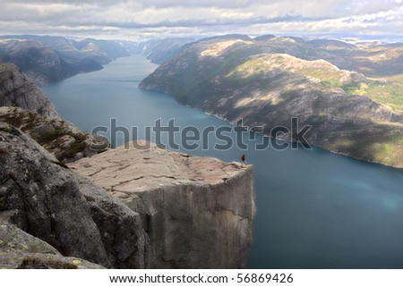 Preikestolen, Norway - stock photo