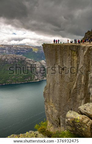 Preikestolen (Pulpit Rock). Norway.