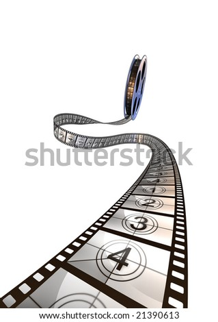 Premiere countdown! 3d rendering. - stock photo