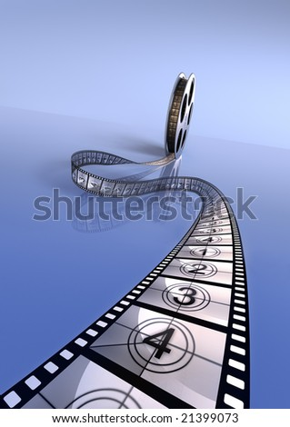 Premiere countdown! 3d rendering. reflect version. Hi res. - stock photo