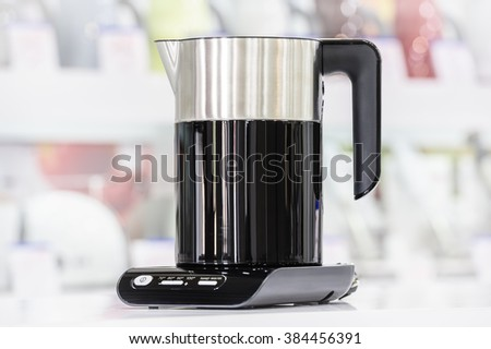 Premium electric kettle - stock photo