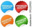 Premium quality sticker - stock vector
