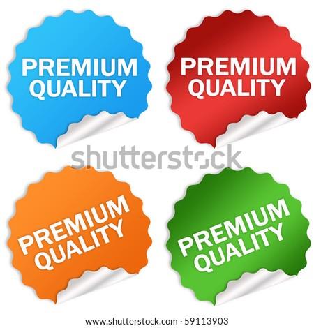 Premium quality sticker - stock photo
