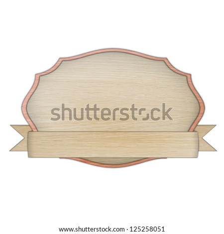 premium quality wooded label retro vintage design collection isolated on white background, vintage banner label frame, wood cut style collection - stock photo