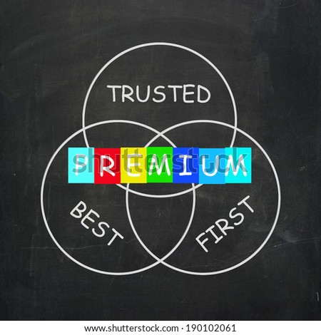 Premium Referring to Best First and Trusted - stock photo