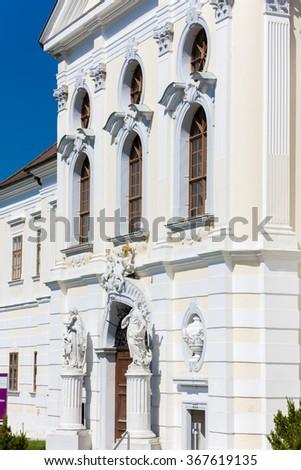 premonstratensian monastery in Geras, Lower Austria, Austria - stock photo
