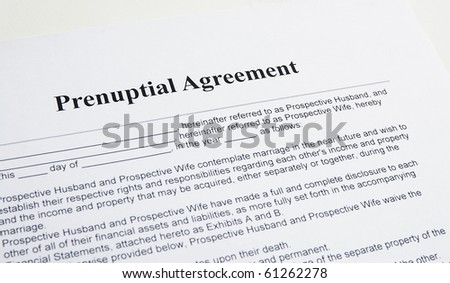 prenuptial contract agreement for marriage