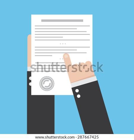 Preparation business contract icon. - stock photo