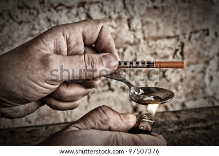 Preparation of drugs - stock photo