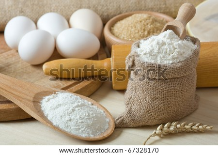 Preparations for homemade baking - stock photo