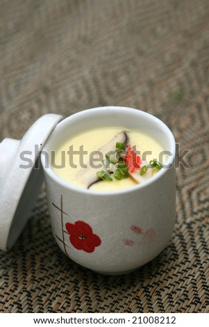 prepared and delicious japanese soup taken in studio - stock photo