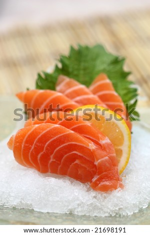 prepared and delicious Salmon sushi maki taken in studio